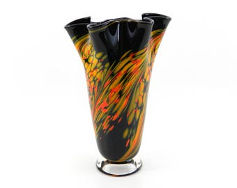 Hand Blown Glass Vase - Sunflower