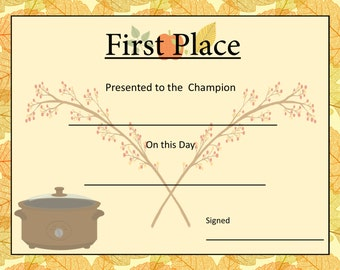 chili award certificate template - chili cook award certificate template 28 images free