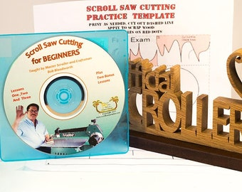 Scroll Saw Cutting For Beginners, Three Lesson DVD plus Two Bonus Lessons, By Master Scroller Bob Bloodworth (50 Mins)