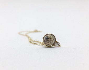 NEW Orb - Labradorite Necklace, Bridesmaids Gift, Gifts for Her