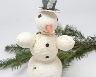 1940's Snowman, Vintage  Spun Cotton for Christmas