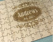 Wedding Guest Wooden Puzzle Practical Guestbook Alternative