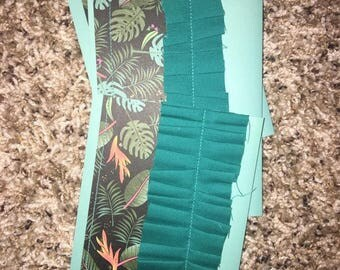 Teal and Tropical Handmade Cards with Foil Accents