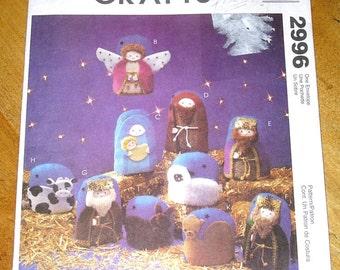 Uncut McCalls Crafts 2996 Stuffed Nativity Scene & Wall Hanging Sewing Pattern Joanne Beretta