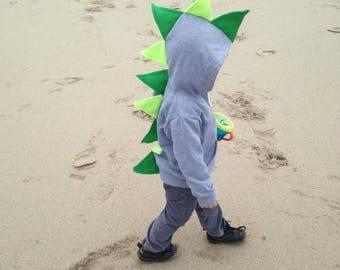 Dinosaur Hoodie-Birthday Dinosaur-Kids Hoodie-Dinosaur Sweater-Grey Hoodie-Dinosaur Dress Up-Dinosaur Gift-Dinosaur Birthday Gifts
