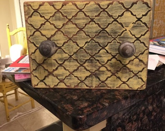 Distressed Patterned Picture Frame
