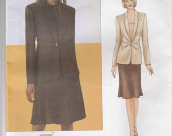 Donna Karan Jacket & Skirt Pattern Vogue 2708 Sizes 14 - 18 Uncut