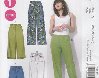 Drawstring Pants & Shorts Pattern McCalls 6568 Sizes XS, S, M (4 - 14) Uncut