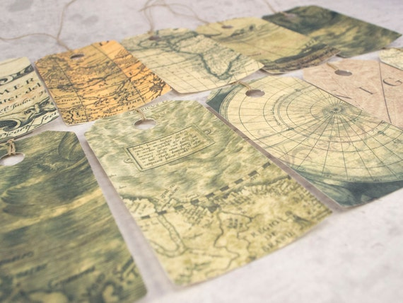 Map gift tags set vintage inspired map hang tags travel gift map gift tags set vintage inspired map hang tags travel gift vintage world map teacher appreciation gift vintage worldmap from lindedesigns on etsy gumiabroncs Image collections