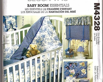 Baby Room Essentials / Original McCall's Home Decorating Uncut Sewing Pattern 4328