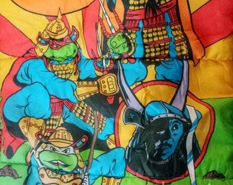 Vintage 90s Teenage Mutant Ninja Turtles III kids sleeping bag