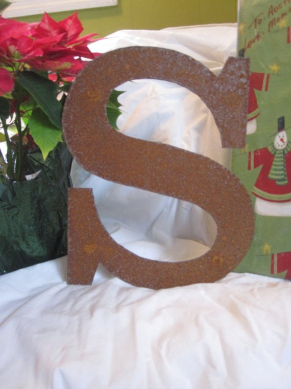 """Ready To Ship!  Metal letter """"S"""""""