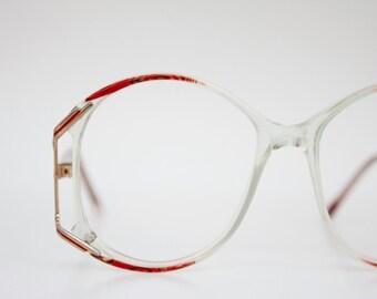 Vintage 80's Rouge Red Eyeglasses Frames