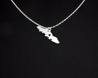 Vancouver Island Necklace - Vancouver Island Jewelry - Vancouver Island Gift