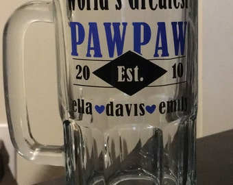 Personalized Beer Stein - Father's Day Gift - Gifts for Dad - Gifts for Grandpa - Gift for him
