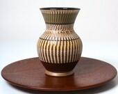 Vintage Dumler Breiden Terra vase - West German pottery 1950s - Fat Lava Eames era - mid century modernist pottery - retro home decor