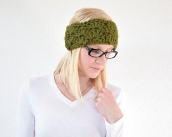 Crocheted Lace Headband, Chunky Crocheted Headband, Red Headband, Crocheted headband || The Courtney