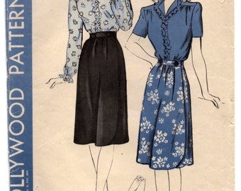 "1940's Hollywood Blouse and Skirt ""Sew-Simple"" Pattern - Bust 32"" - No. 1435"