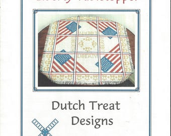 "Clearance - ""Liberty Tabletopper""  Counted Cross Stitch Chart by Dutch Treat Designs"
