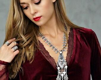 Luisa Statement Necklace Bohemian Jewelry Tassel Necklace