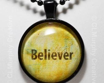 Believer Hand Art Custom Necklace Pendant Jewelry Sobriety Christian Jewelry Pendant NA AA C L Murphy Creative
