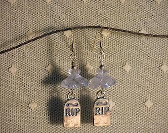 Rites #1 - Sterling Silver Headstones & Vintage Glass