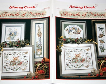 Stoney Creek Friends of Nature Collection book 247 cross stitch charts NEW