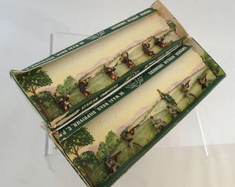 Vintage Metal Army Toy Soldiers Swedish African Engineers (SAE) Painted Lead figures 2 Sets Lot South African Scottish Regts 17A 1914 Action