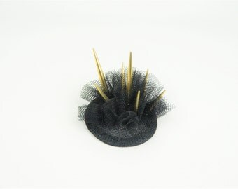 Fascinator Headpiece Spike Stud Crown Evening Occasion Hen Night Statement Hair Accessory, Alternative Fashion Wedding, Cocktail Party Hat