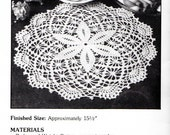 "Vintage Crochet Pattern ""Star Shine"" - from Leisure Arts 'Elegant Crocheted Doilies' Leaflet No 972"