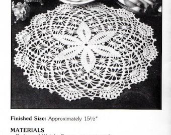 "Vintage Crochet Pattern ""Star Shine"" - from Leisure Arts 'Elegant Crocheted Doilies' Leaflet No 972"