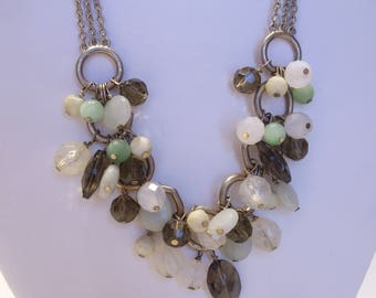 Boho Bead Dangle and Chain Necklace