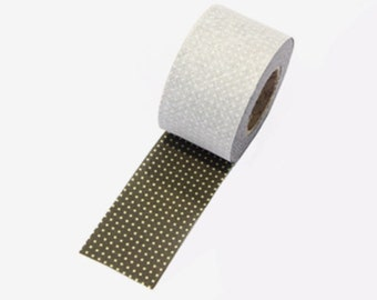 4 cm Dot Series Cotton Bias Tape in Khaki - 10 yards By the Roll 95666