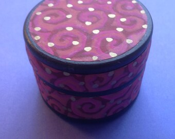 wooden Trinket Box with Chiyogami Paper