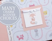 Baby Memory Book   Animals Baby Book   Personalized Baby Album & Journal   Baby Girl Book   Sweet Little Animals with Fox Charm