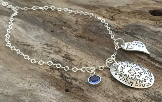 Friends Gift | Best Friends Gift | Gifts for Best Friends | Quote Jewelry | Sterling Silver | Necklace for friends | Necklace Birthstone