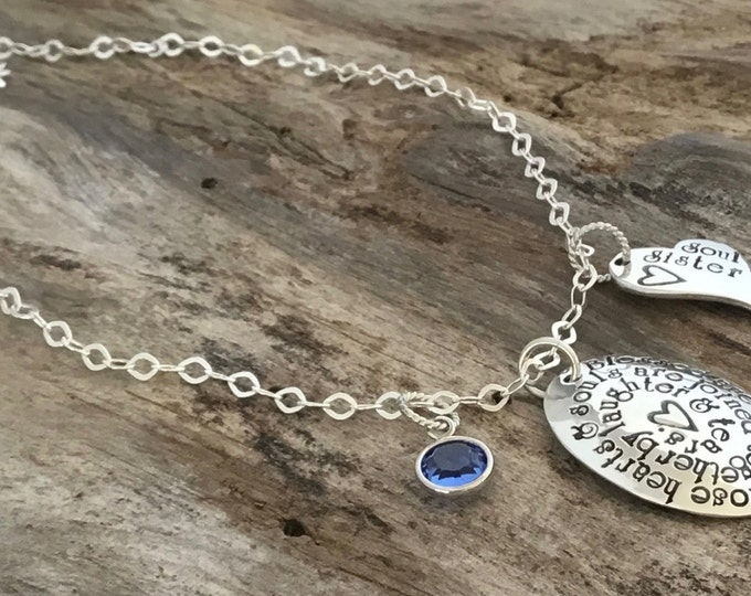 Soul Sister Gift | Soul Sisters necklace | Hand stamped necklace | unbiological sisters | Best friend gift | Soul Sister Jewelry | BFF gift