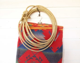 Vintage Roping Lasso - Rope - Lariat - Reata - Cowboys - Collectible - Nylon Rope For Lasso - Wall Art - Cabin - Den