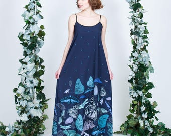 Dark Butterfly - maxi dress