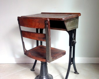 antique school desk childu0027s desk with separate chair standalone chair and desk school house desk set great condition - Childs Desk