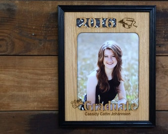 11x14 2017 Graduation Picture Frame, High School College Graduation Gift, 2017 Graduate, Personalized Gift, Laser Engraved Frame