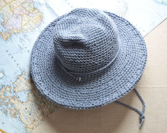 Beach Hat, Sun Hat, Womens Summer Hats, Cotton Hat, Rustic Style, Farm Hat, Garden Hat, Travel Accessories, Camping Gear, Outerwear for her