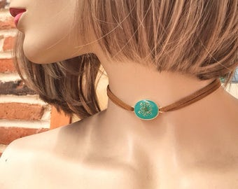 dainty choker, suede choker, gift for girlfriend, velvet choker, boho choker, leather choker, bohemian jewelry, choker thin wrap, boho girl