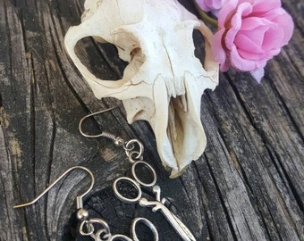 Silver Cosmetology Scissor Charm Earrings Great Gift for Hair Stylist