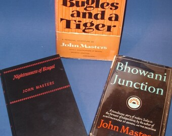 John Masters, Bugles and a Tiger, Nightrunners of Bengal, Bhowani Junction, buy individually or as a set and save