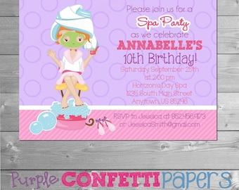 Spa Birthday Invitation, Spa Invitation, Spa Invite, Spa Party, Spa Theme, Spa Party Invitation, Spa Party Invite, Spa Birthday, Printable