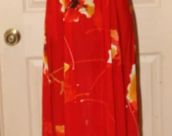 Hawaii Nei - Hawaiian Muu Muu Dress - Full  Length - Honolulu - Size 12