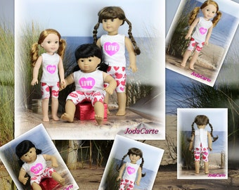 Valentine's Heart Outfits (Set of 3)