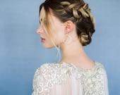 Lakshmi | Beaded Crystal Pearl Silk Train | Byzantine Collection