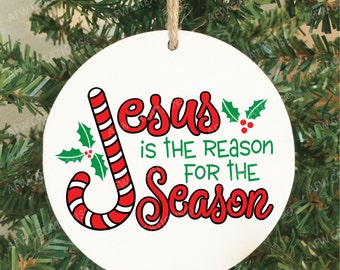 Jesus is the Reason for the Season Christmas Ornament, Christian, Religious, Pastor, Minister, Priest Gift, Bible Study